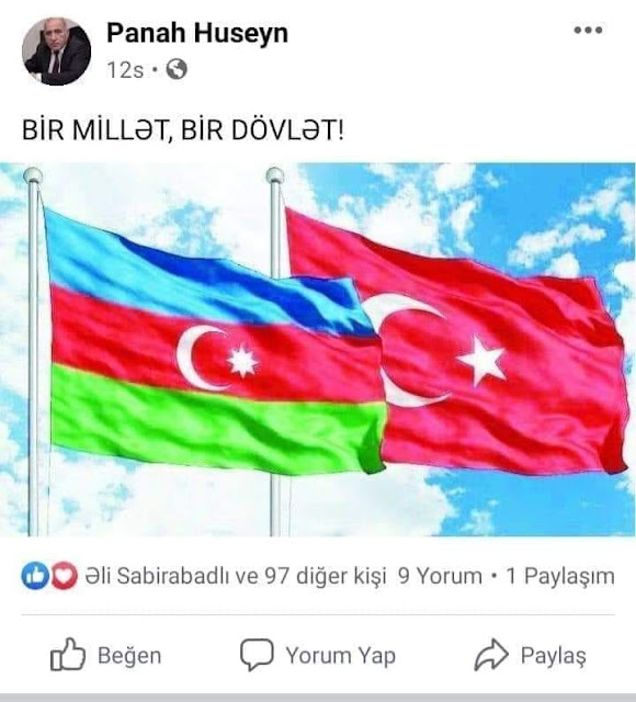 Deyirlər tüpürək bayrağa da, himnə də, gerbə də - Türkiyə ilə bir dövlət olaq!