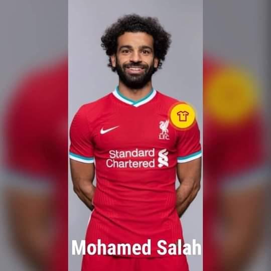 محمد صلاح بقميص ليفربول الجديد2020