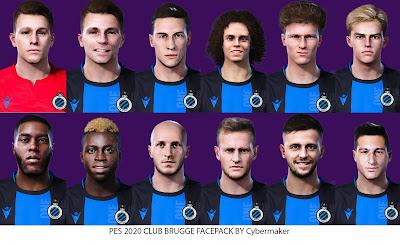 PES 2020 Club Brugge Facepack by Cybermaker