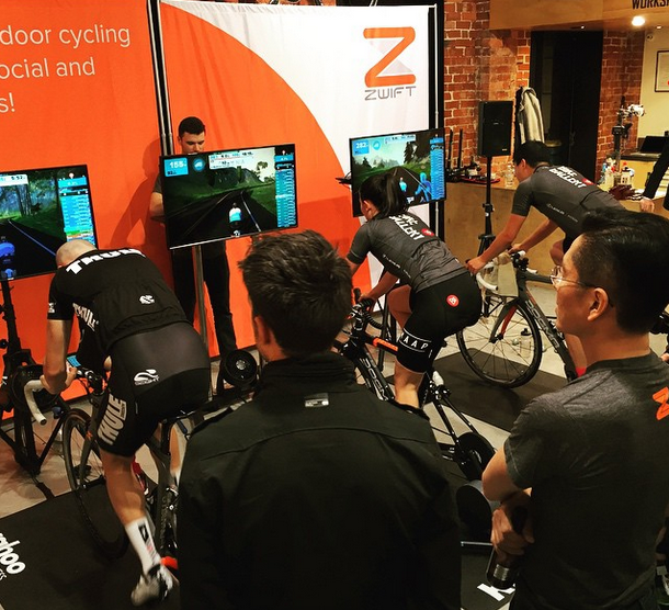 Tales from the llama   : Zwift Down Under Challenge - Melbourne