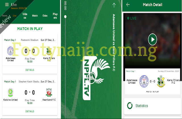 how to watch Nigeria Premier League Matches Live on your Phone.
