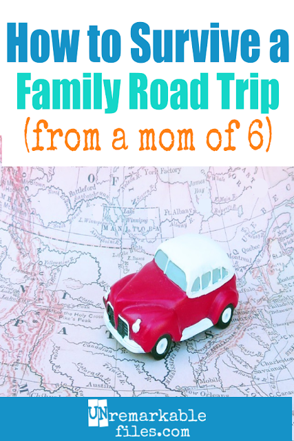 Packed with road trip ideas for kids, car games, and activities! This mom of 6 shares her best family road trip hacks and tips. #roadtrip #kids #family #activities #cargames #unremarkablefiles