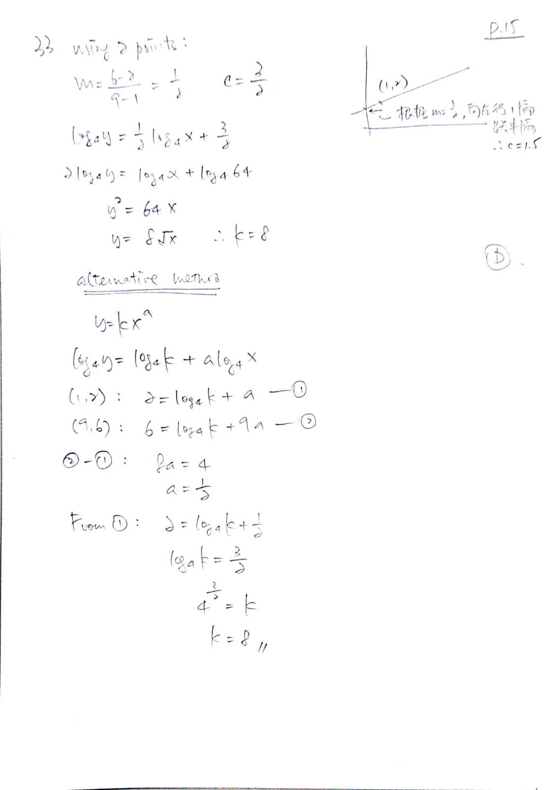2018 DSE 數學卷二(MC) 詳細答案 Q33