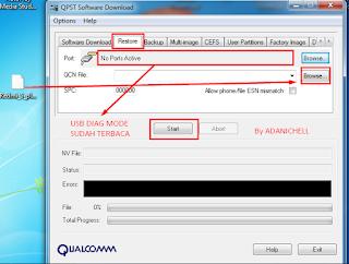 DownloadRestoreBrowse masukan file Redmi_5_plus_[Vince].qcn
