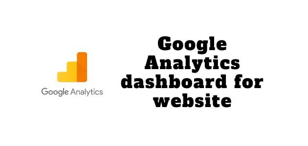 Google Analytics dashboard for website