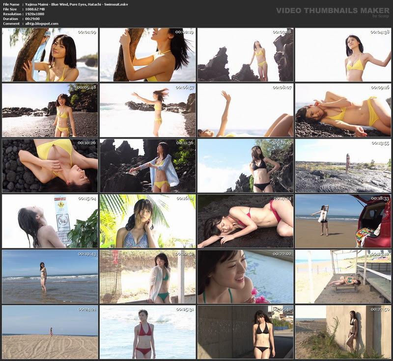 [MIX] Maimi Yajima 矢島舞美 & Blue Wind, Pure Eyes, Hatachi & Swimsuit 2602