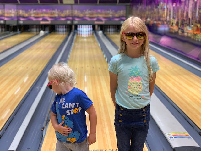 Cool kids bowling at Rollerbowl