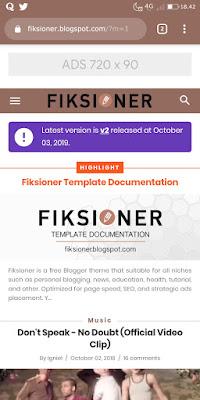 Download template blogger Fiksioner gratis