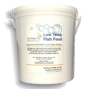 cool ponds low temp fish food