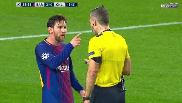Ce que Messi a dit à l'arbitre pendant Barça-Chelsea