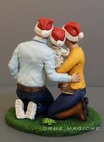 statuette realistiche regalo marito natale anniversario statuine cake topper milano orme magiche