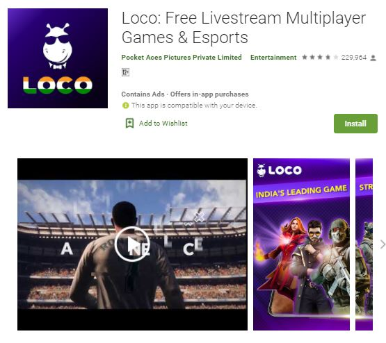 Loco free Livestream multiplayer games & esports