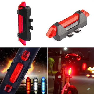 Lampu Sepeda DC918 5 LED Taillight Rechargeable DC 918