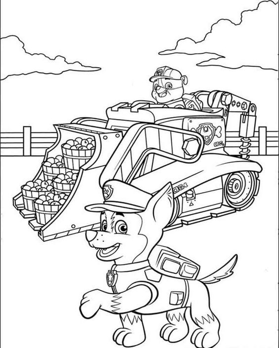 Paw patrol coloring pages 0