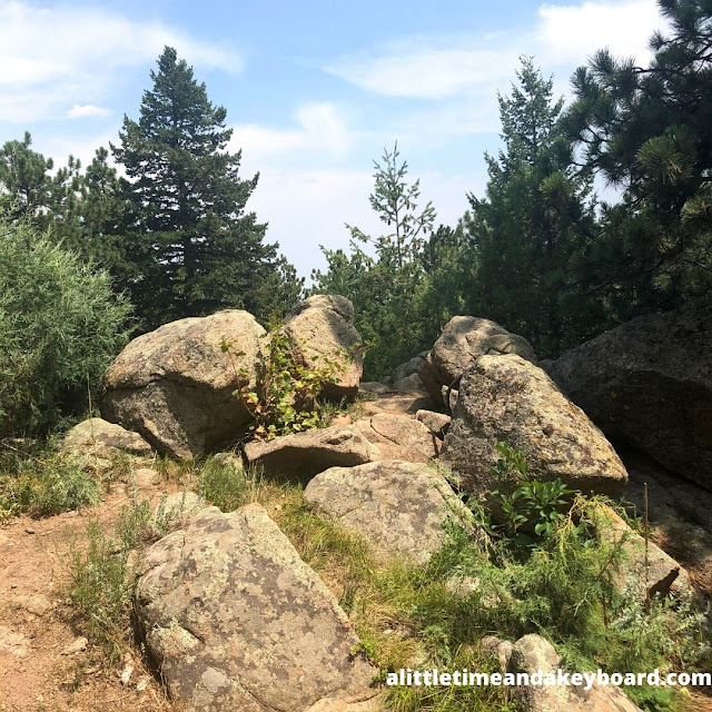 Mountain boulders provided a bit of a challenge as well as wonderful photo moments on Green Mountain.