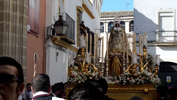 Horario e Itinerario Salida Procesional de la Virgen de la Palma hoy en Jerez de la Frontera