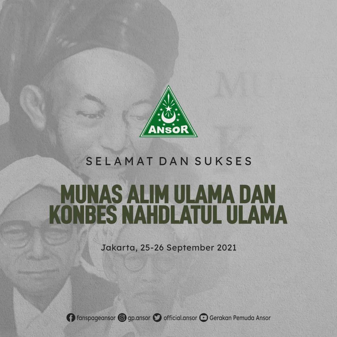 Selamat dan Sukses Munas Alim Ulama dan Konbes NU Tahun 2021