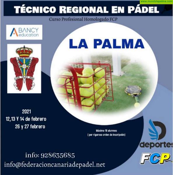 El Cabildo y la Federación Canaria organizan el curso de técnico regional de pádel