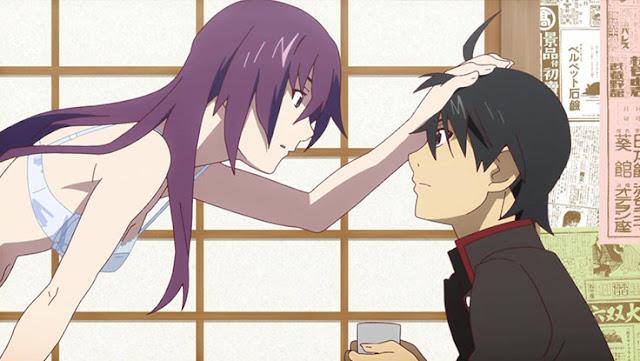 Romantic Anime Jomblo Pasangan Senjougahara Mei Misaki Nagisa