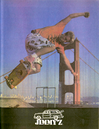 Iconic Jimmy'z Skateboarder Ads