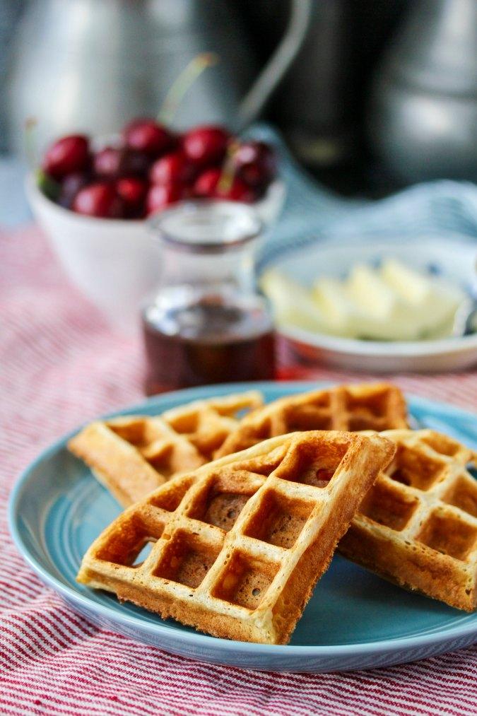 Sourdough Belgian-Style Waffles