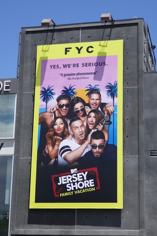 Jersey Shore Family Vacation season 1 Emmy FYC billboard