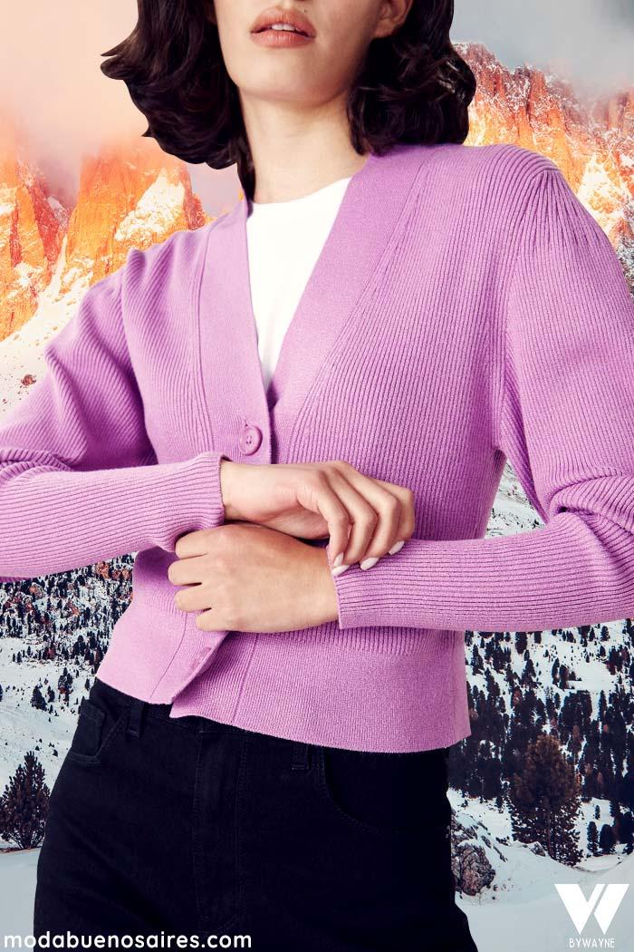 saco lila invierno 2021 moda  mujer