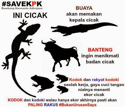Koleksi Gambar Kartun dan Meme KPK vs Polri Cicak vs Buaya