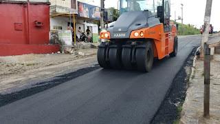 Guarabira: Rua José Américo no Nordeste recebe obra asfáltica neste domingo
