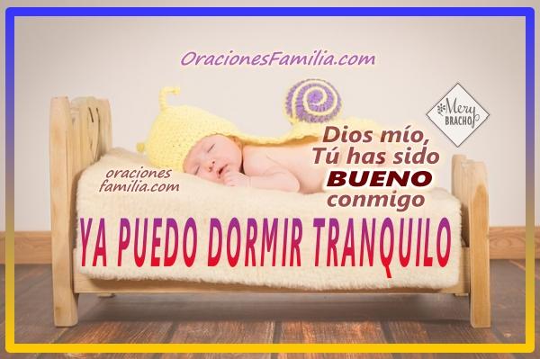 imagen bebe duerme oracion de la noche ya puedo dormir tranquilo versiculo cita biblica