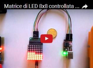 Matrice di LED 8x8 controllata dal Max7219 e Olimexino 85 o da Arduino UNO R3