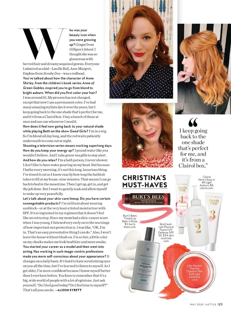 Christina Hendricks Featured  InStyle Magazine May 2020 Issue | Celebrity Photos Daily