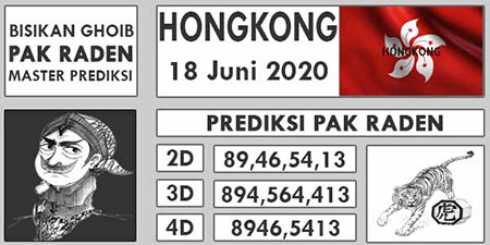 Prediksi HK Kamis 18 Juni 2020 - Pak Raden