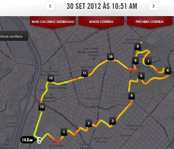 7ddb8f8e7dd Distância e trajeto medidos pelo Nike+ GPS