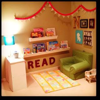 cantinho da leitura no quarto do bebê!