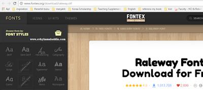 4 tempat terbaik mendownload Font GRATIS Catatan Evhy
