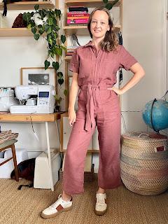 Maple Linen Closet Core Patterns Blanca Flight Suit