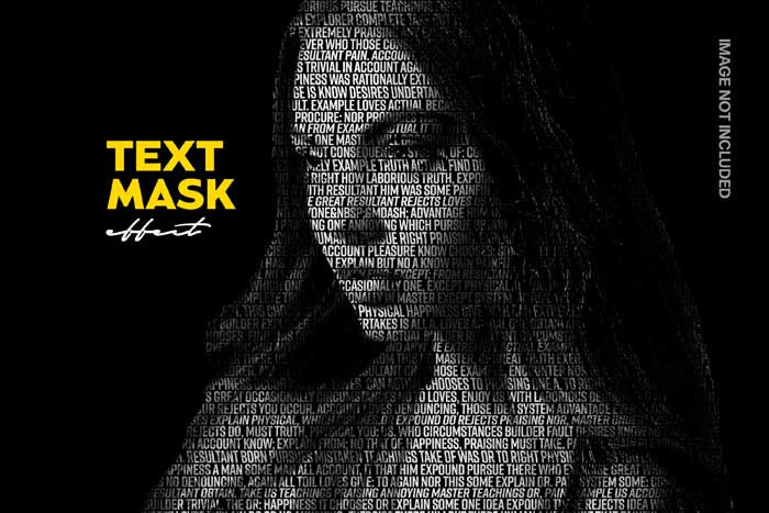 Text Mask Effect PSD Mockup
