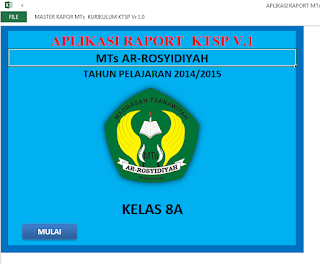 Aplikasi Raport MTs berbasis KTSP