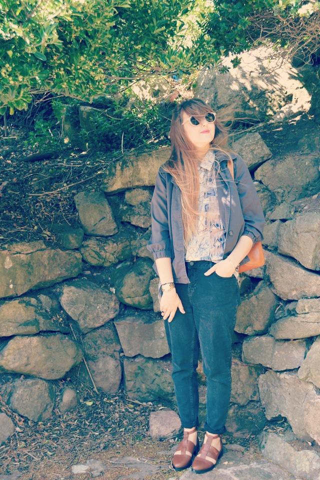 vintage silk shirt whistles boyfriend jeans sunbleached summer style