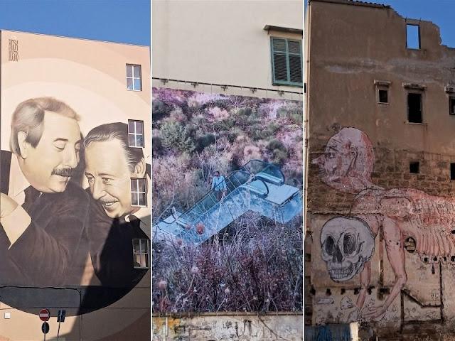 murale a Palermo nel quartiere kalsa