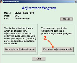 Cara Reset Epson Stylus R270 Blink