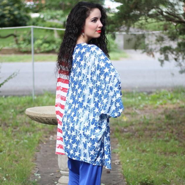 American Flag Kimono
