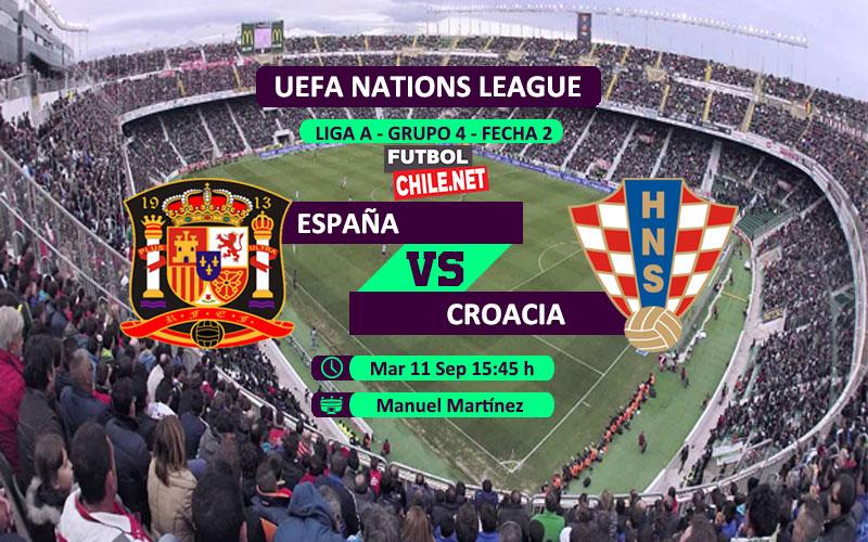 Mira España vs Croacia en vivo y online por la Segunda Fecha del Grupo 4 de la Liga A de UEFA Nations League