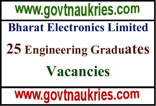 Bharat Electronics Limited Recruitment 2019