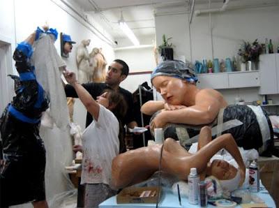Escultura muy realista.