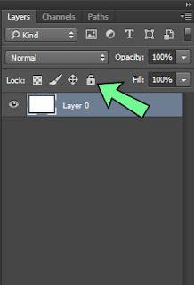 Cara mengunci layer gambar photoshop supaya tidak bisa di edit