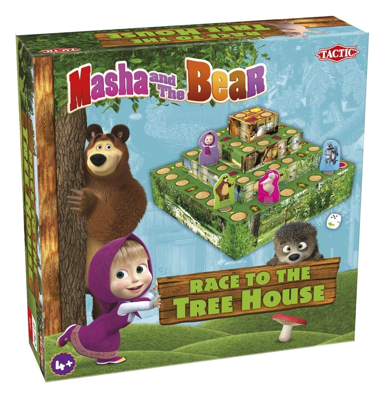 Masha and Bear race to the treehouse game