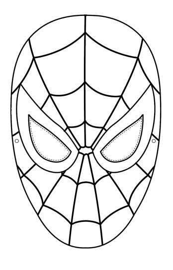 Tranh tô màu mặt nạ người nhện