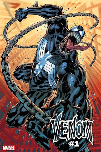 Marvel muestra la portada Venom #1, la nueva serie que se lanzará el 13 de octubre.